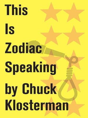cover image of This is Zodiac Speaking