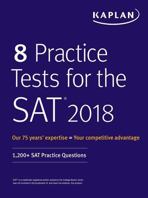 cover image of 8 Practice Tests for the SAT 2018