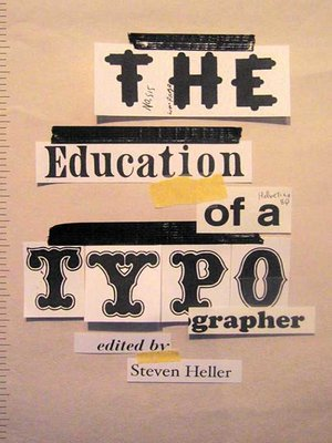 cover image of The Education of a Typographer