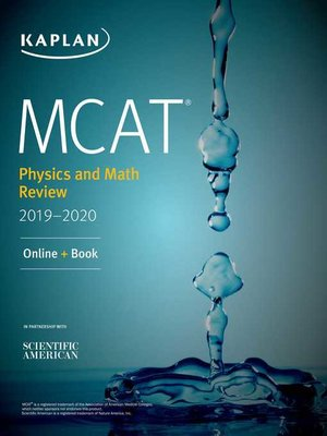 cover image of MCAT Physics and Math Review 2019-2020