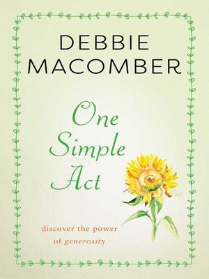 cover image of One Simple Act