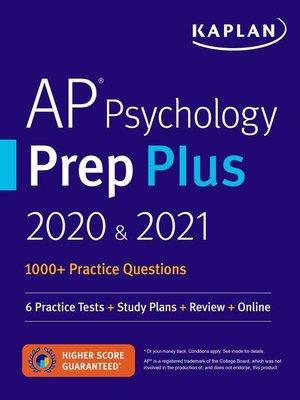 cover image of AP Psychology Prep Plus 2020 & 2021