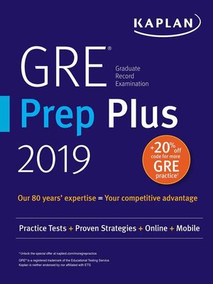 cover image of GRE Prep Plus 2019