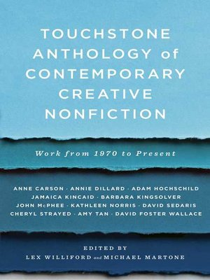 cover image of Touchstone Anthology of Contemporary Creative Nonfiction