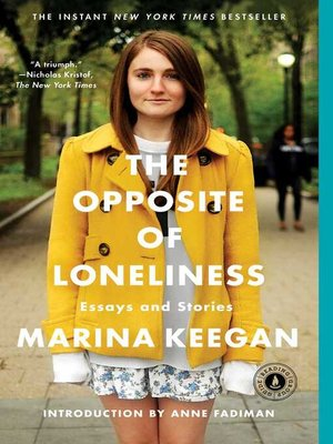 cover image of The Opposite of Loneliness