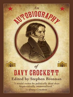 cover image of An Autobiography of Davy Crockett