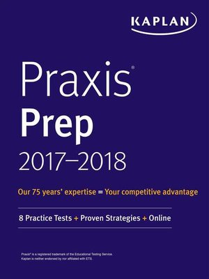 cover image of Praxis Prep 2017-2018