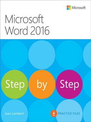 cover image of Microsoft Word 2016 Step by Step