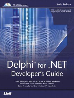 Pearson education delphi for. Net developer's guide.