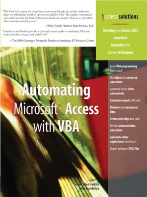 cover image of Automating Microsoft Access with VBA