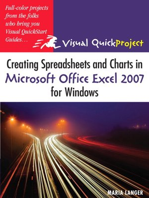 cover image of Creating Spreadsheets and Charts in Microsoft Office Excel 2007 for Windows