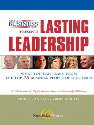 cover image of Nightly Business Report Presents Lasting Leadership