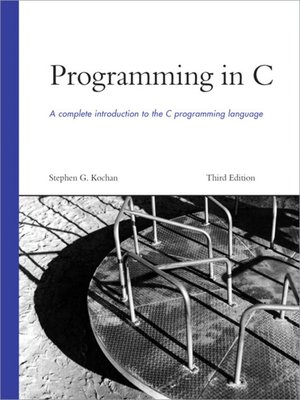 cover image of Programming in C