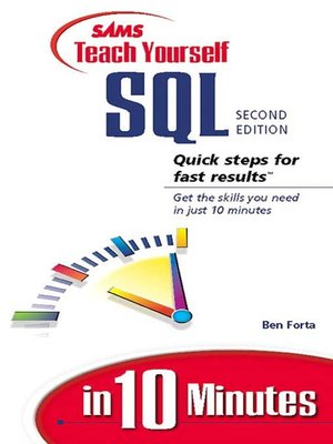 cover image of Sams Teach Yourself SQL in 10 Minutes