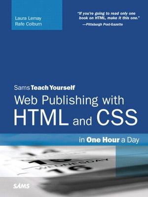 cover image of Web Publishing with HTML and CSS in One Hour a Day