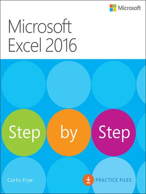 cover image of Microsoft Excel 2016 Step by Step