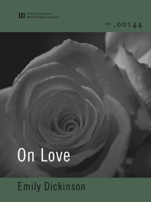 cover image of On Love (World Digital Library Edition)