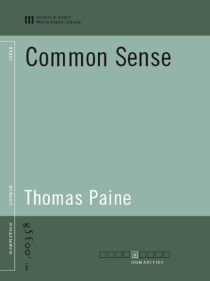 cover image of Common Sense (World Digital Library Edition)