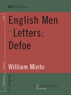 cover image of English Men of Letters: Defoe (World Digital Library Edition)