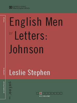cover image of English Men of Letters: Johnson (World Digital Library Edition)