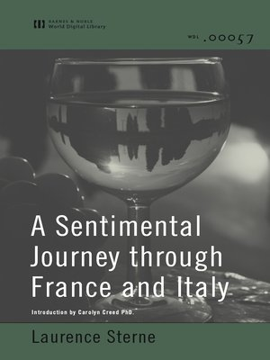 cover image of A Sentimental Journey Through France and Italy (World Digital Library Edition)