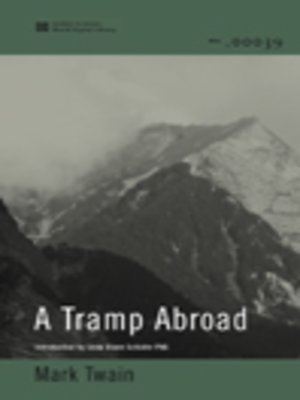 cover image of A Tramp Abroad (World Digital Llibrary Edition)