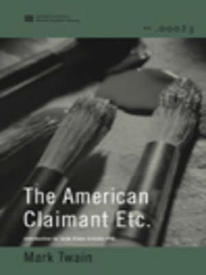 cover image of The American Claimant Etc. (World Digital Library Edition)