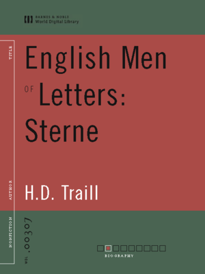 cover image of English Men of Letters: Sterne (World Digital Library Edition)