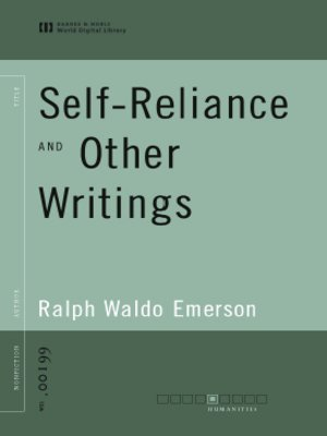 ralph waldo emerson · rakuten ebooks  self reliance and other