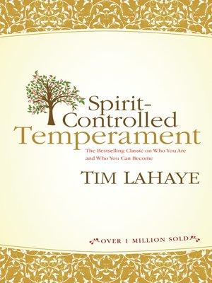 cover image of Spirit-Controlled Temperament