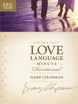 cover image of The One Year Love Language Minute Devotional