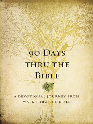 cover image of 90 Days Thru the Bible