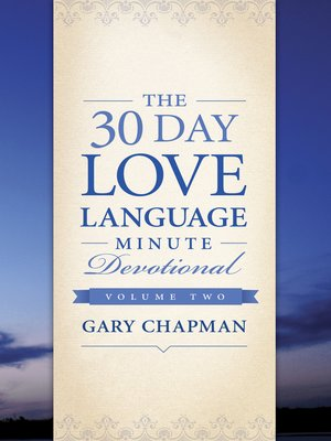 cover image of The 30-Day Love Language Minute Devotional Volume 2