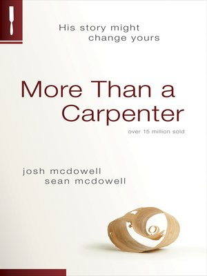cover image of More Than a Carpenter