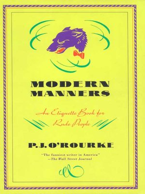 cover image of Modern Manners