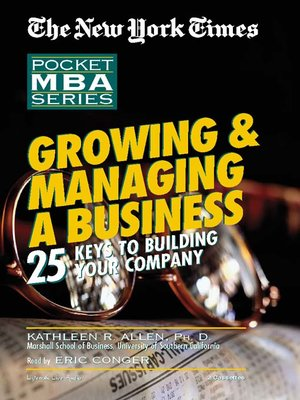 cover image of Growing & Managing A Business