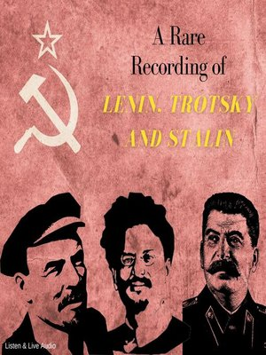 cover image of A Rare Recording of Lenin, Trotsky and Stalin