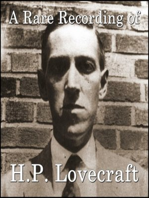 cover image of A Rare Recording of H.P. Lovecraft