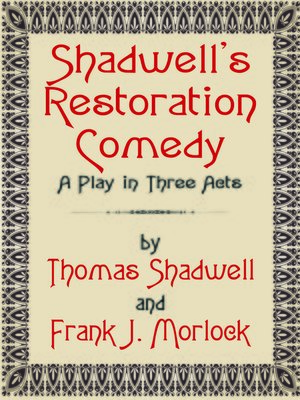 cover image of Shadwell's Restoration Comedy