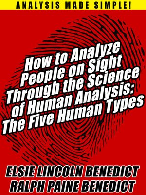 cover image of How to Analyze People on Sight Through the Science of Human Analysis