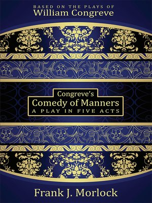 cover image of Congreve's Comedy of Manners