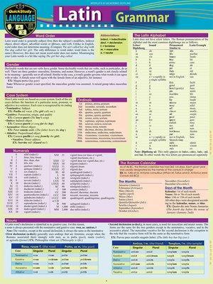 cover image of Latin Grammar