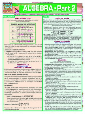 cover image of Algebra Part 2