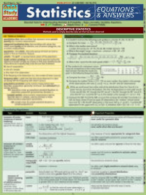 cover image of Statistics Equations & Answers