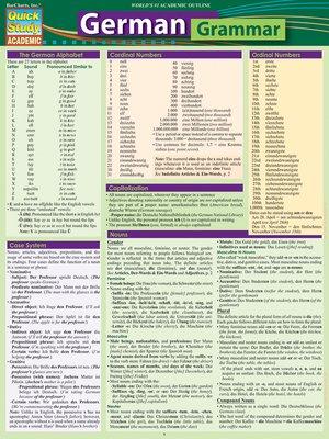 cover image of German Grammar
