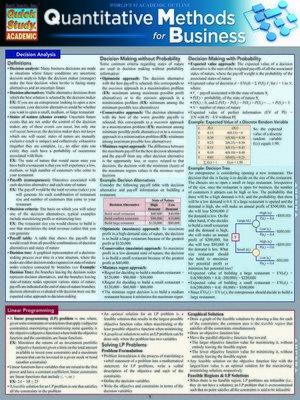 cover image of Quantitative Methods  For Business
