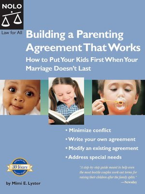 cover image of Building a Parenting Agreement That Works
