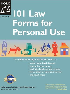 Law Forms For Personal Use By Ralph Warner OverDrive Rakuten - Law forms for personal use