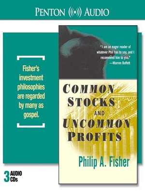 common stocks and uncommon profits by philip fisher pdf