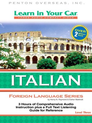 cover image of Learn in Your Car Italian Level Three